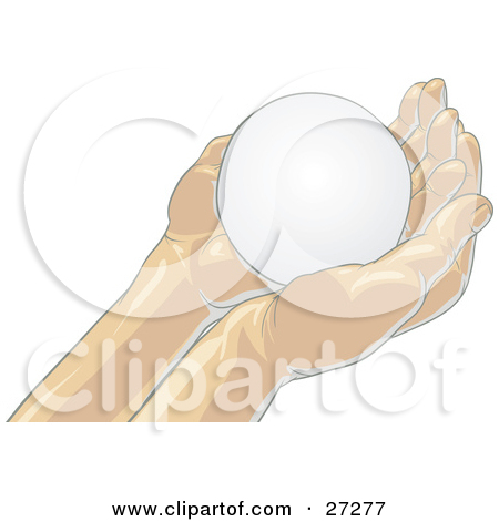 Clipart Illustration of a Blank White Orb Nestled In Gentle.