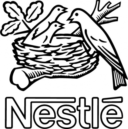 Nestle bird logo, Vector Graphic.