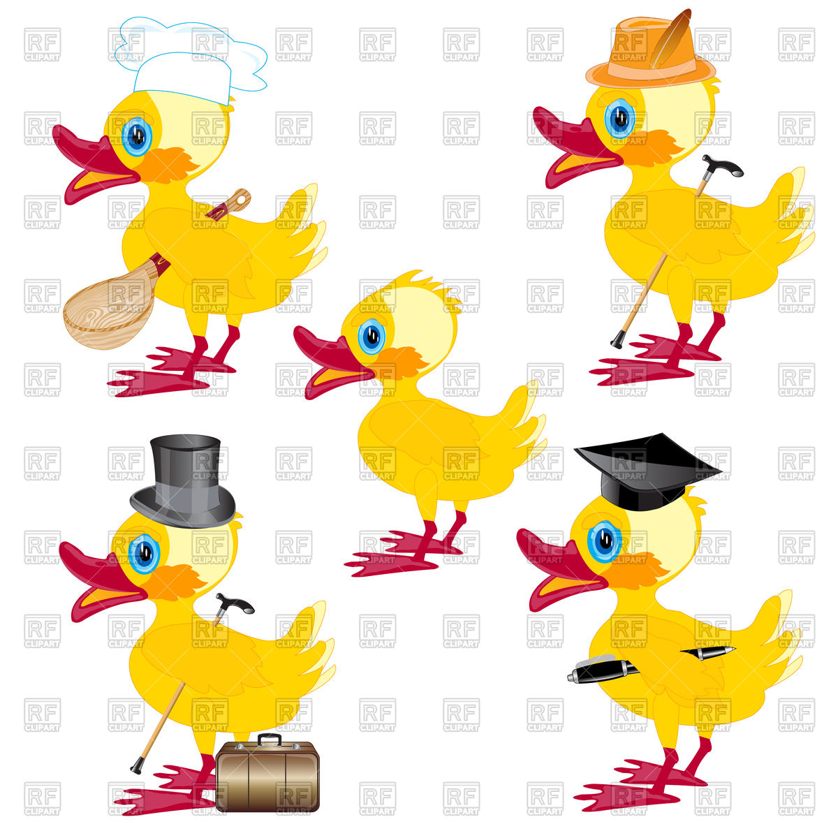 Cartoon nestling duck Vector Image #94522.