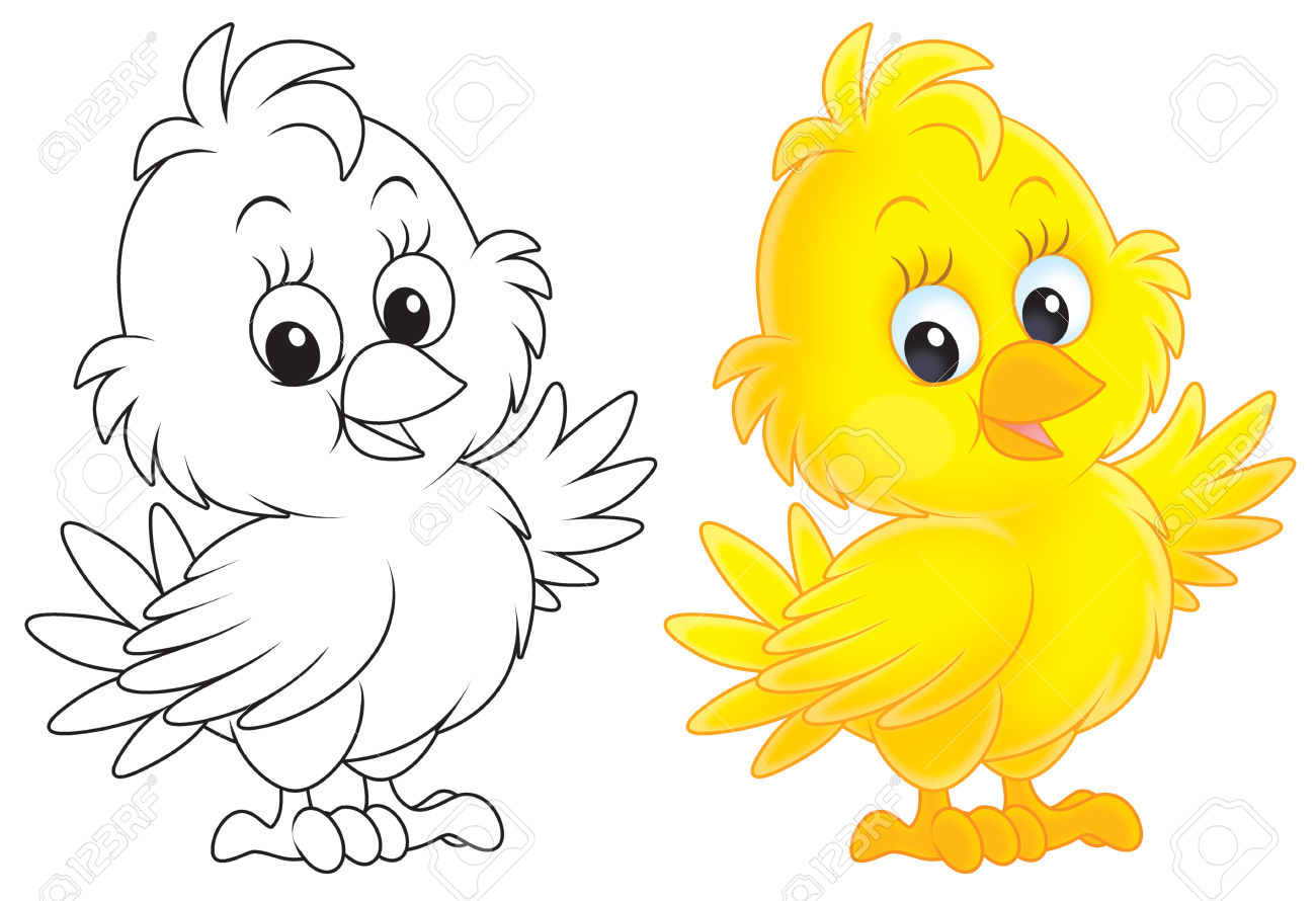 Little Yellow Nestling Stock Photo, Picture And Royalty Free Image.