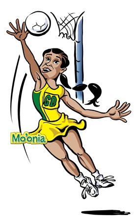 Clipart of netball players.