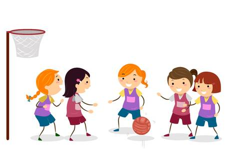 363 Netball Stock Vector Illustration And Royalty Free.