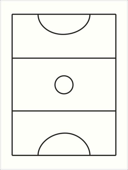 'Netball Court' Art Print by samantor.