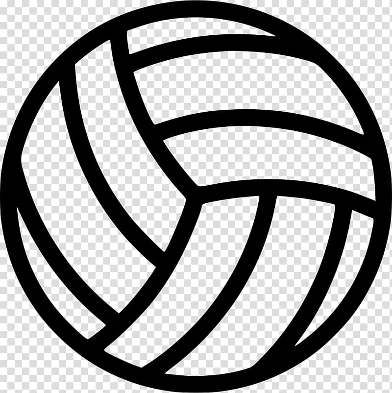 Black volleyball illustration, Volleyball Computer Icons.