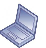 Netbook clip art Free Vector.