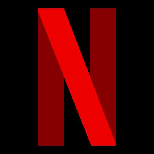 Logo, netflix icon.