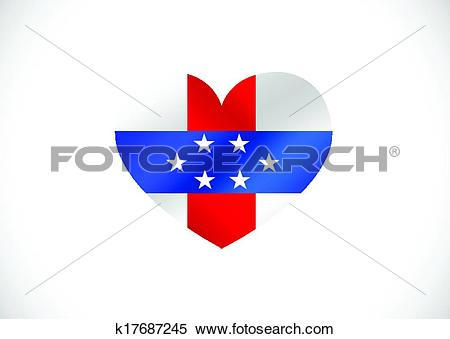 Clipart of Netherlands Antilles flag themes id k17687245.