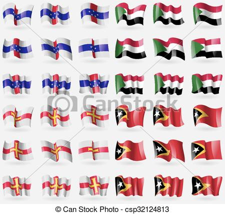 Vector Clip Art of Netherlands Antilles, Suda, Guernsey, East.
