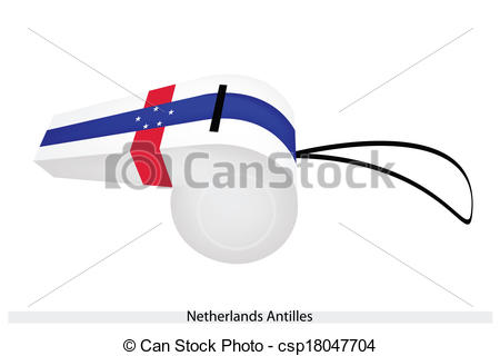 Vector Clipart of A Beautiful Whistle of The Netherlands Antilles.