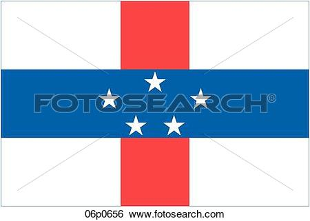 Clip Art of netherlands antilles flg 06p0656.