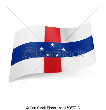 Vector Clip Art of State flag of Netherlands Antilles.