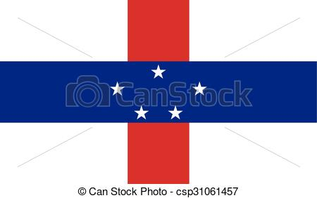 Clipart Vector of Flag of Netherlands Antilles.