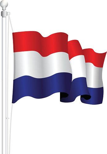 Netherlands Flag premium clipart.