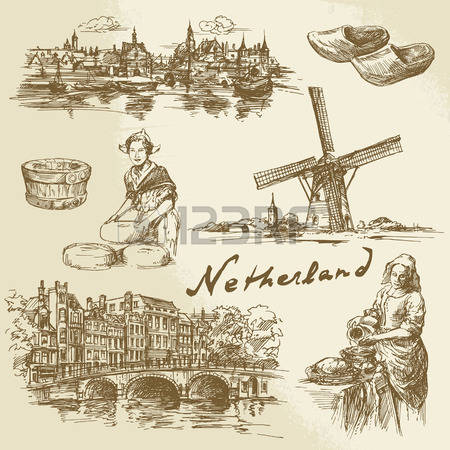 781 Holland Landscape Stock Illustrations, Cliparts And Royalty.