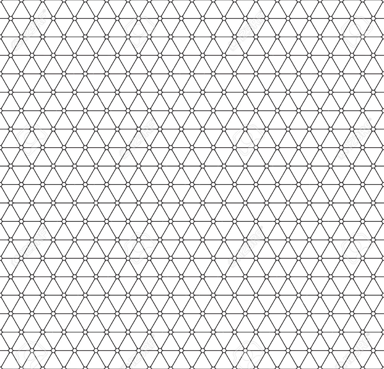 Seamless Pattern Of The Triangle Elements Netting Royalty Free.