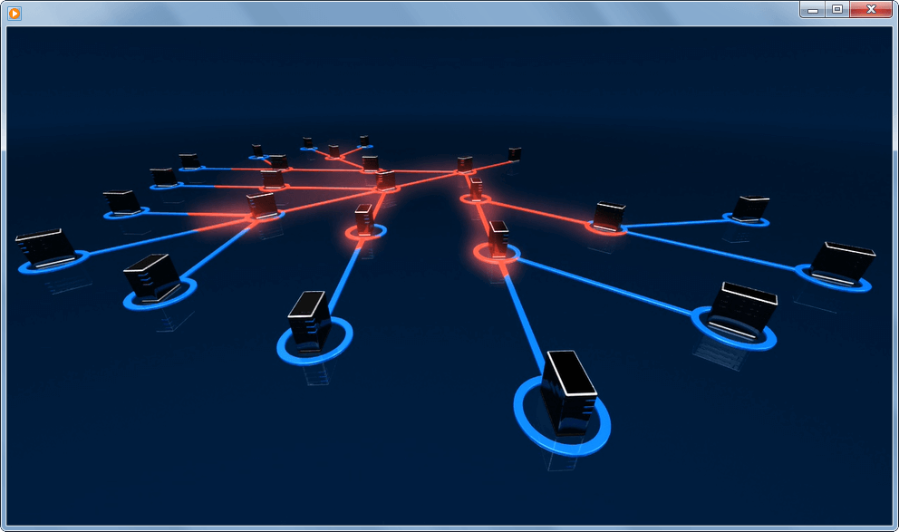 Animated Network Security PowerPoint Template.