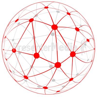 Network Globe PowerPoint Clip.