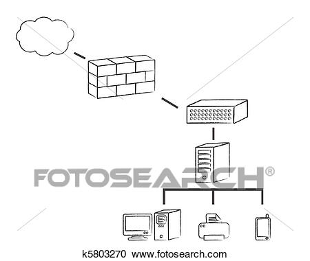 Network diagram Clipart.