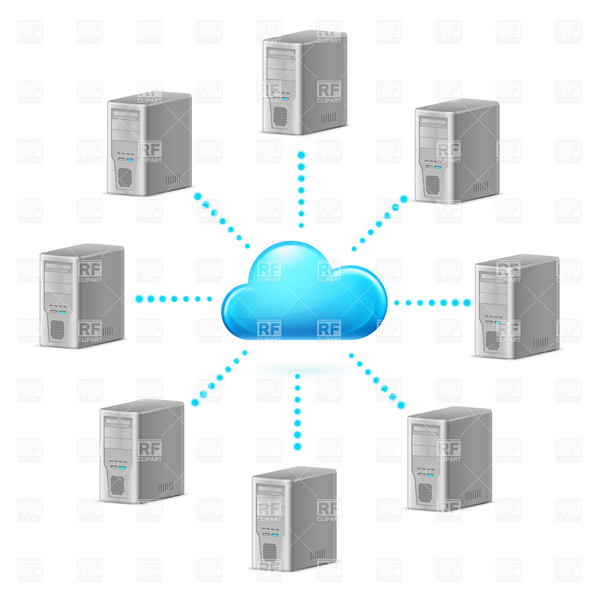 Cloud computing network symbol Stock Vector Image.