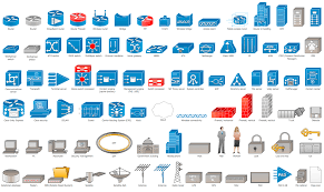 networking related: Network infrastructure device and Icons.