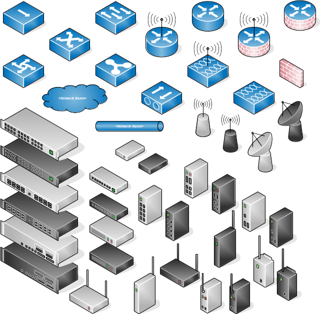 Network Switch Icon clipart.
