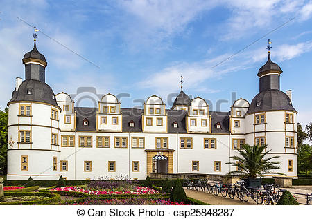 Pictures of Neuhaus Castle in Paderborn, Germany.