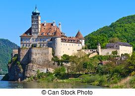 Stock Photographs of Neuhaus Castle on the Danube.