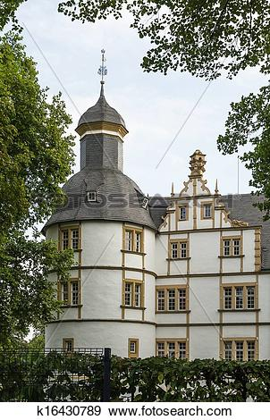 Stock Photograph of Neuhaus Castle in Paderborn, Germany k16430789.