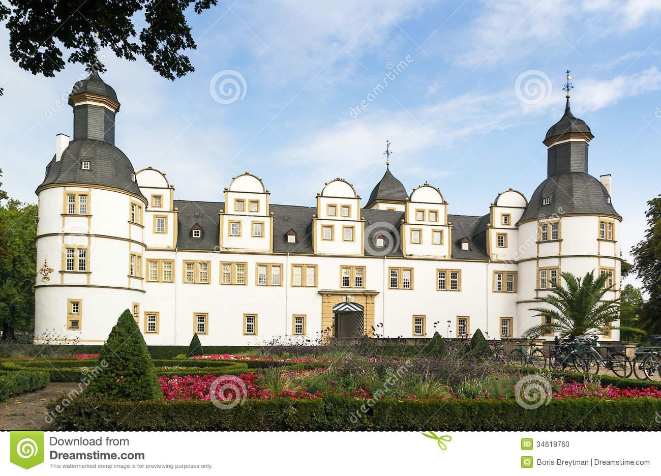 Neuhaus Castle In Paderborn, Germany Stock Photo.