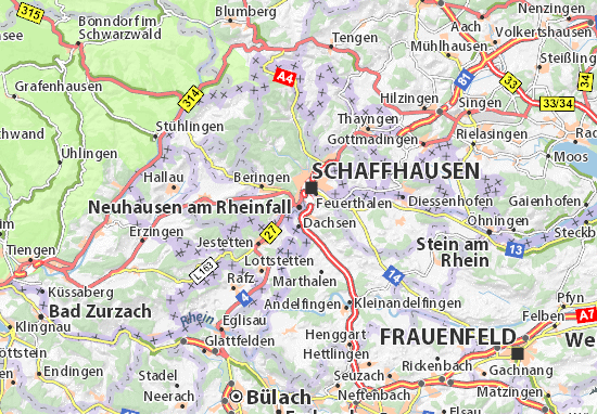 Map of Neuhausen am Rheinfall.