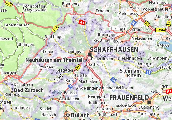 Map of Neuhausen am Rheinfall.