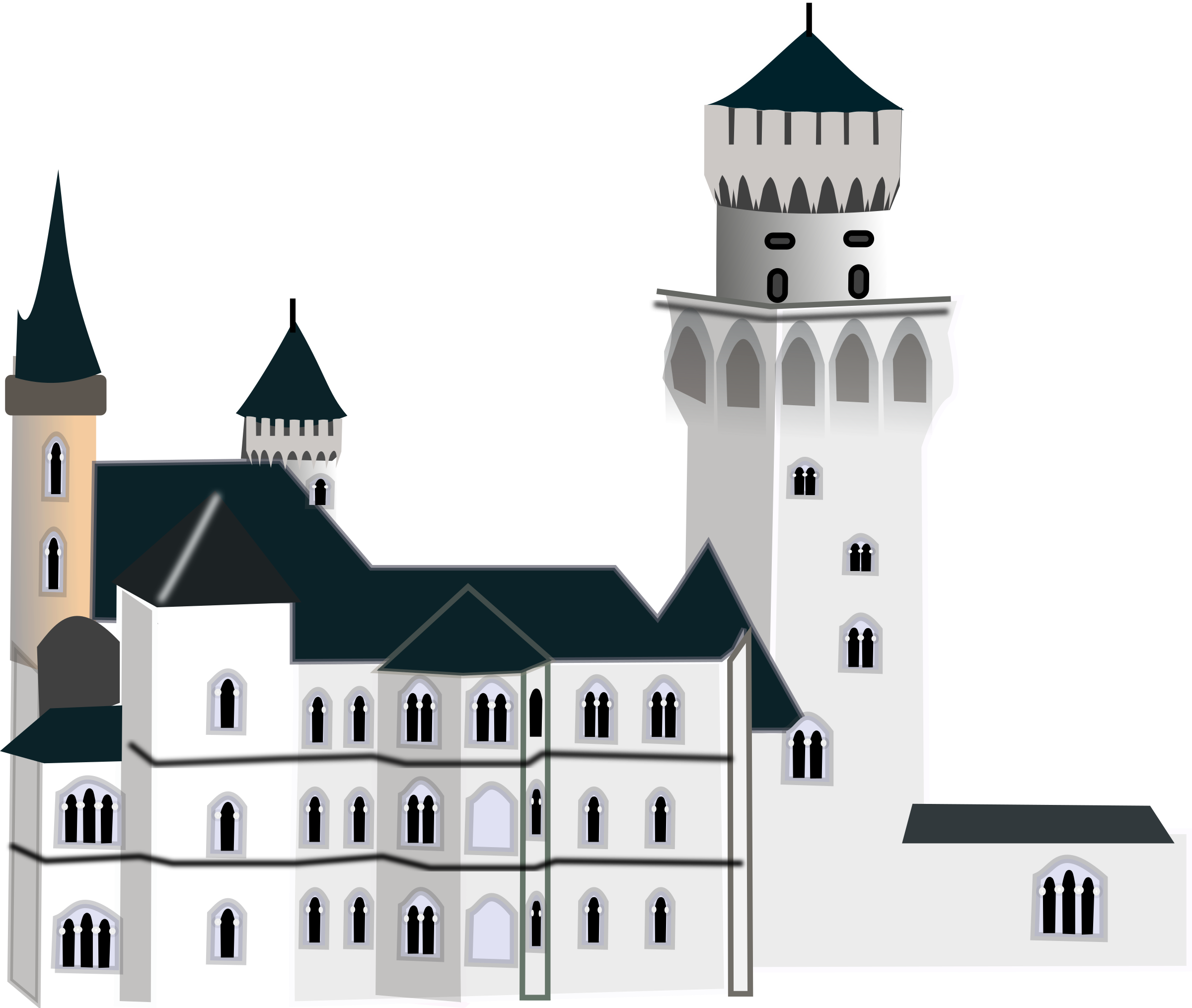 Neuschwanstein castle clipart #2