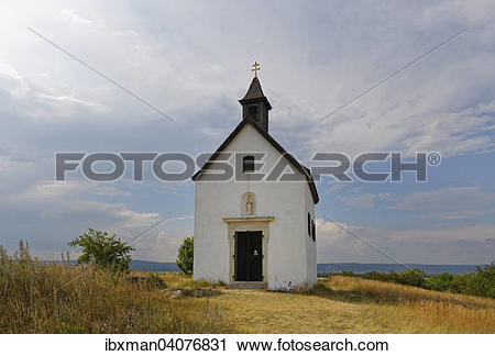 "Stock Photography of ""Rosalia Chapel, Oggau am Neusiedler See."