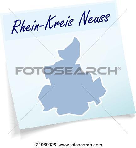 Clipart of Map of Rhein.