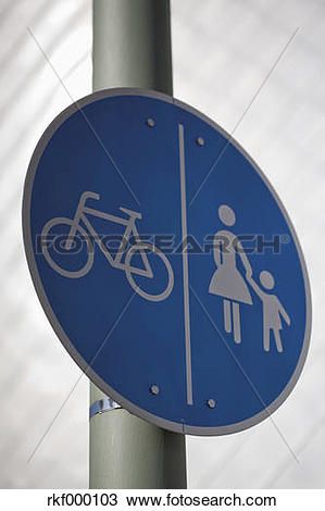 Stock Photo of Germany, North Westphalia, Neuss, Bicycle lane and.