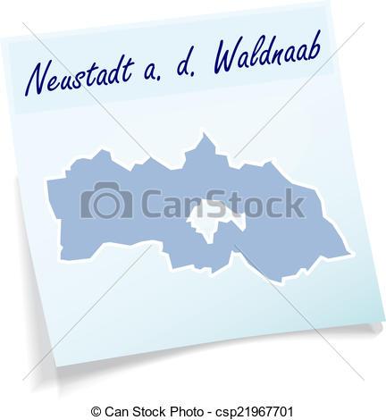 Vector Clipart of Map of Neustadt.
