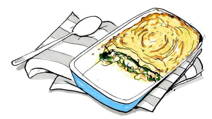 Recipe: Lindsey Bareham\'s fish pie with brown crab béchamel.