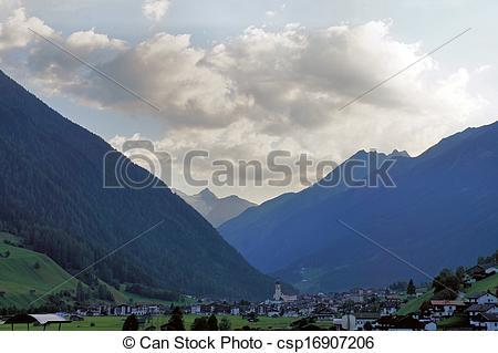Stock Fotografie von neustift, stubai, österreich, Tal.