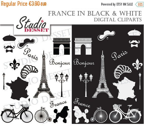 75% OFF Paris Clip Art Clipart French Clipart Clip by StudioDesset.