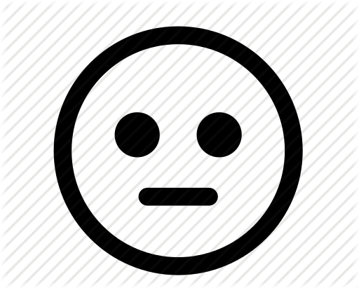 Neutral smiley face clip art.