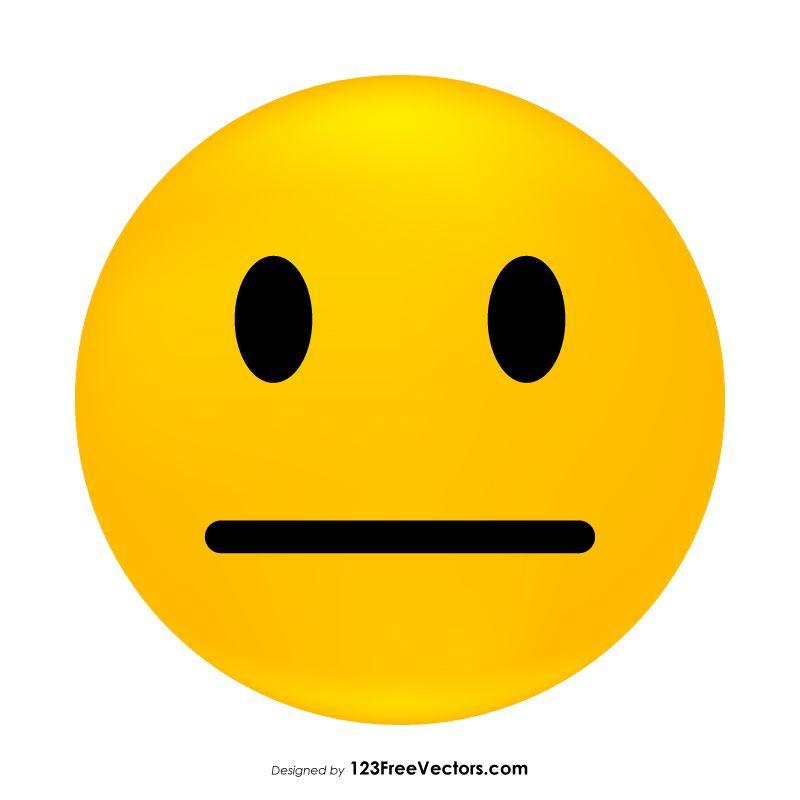 Neutral Face Emoji.