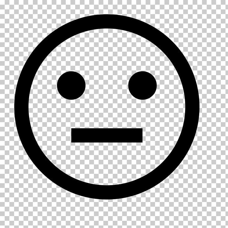 Computer Icons Emoticon, neutral face PNG clipart.