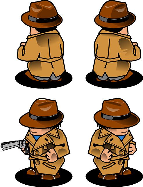 Free vector graphic: Detective, Gun, Man, Neutralizer.