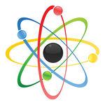 Clipart Vector of Atom.