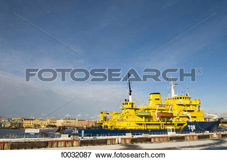 Picture of Russia, St Petersburg, icebreaker on the Neva. f0032087.