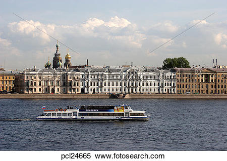 Stock Image of Neva River, Classical Architecture pcl24665.