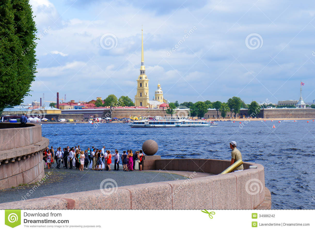 Peter And Paul Fortress, Neva River Editorial Photography.