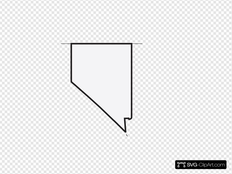 Nevada, Us State, White Clip art, Icon and SVG.