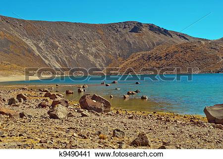 Stock Photography of Nevado de Toluca, old Volcano k9490441.