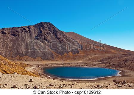 Stock Photography of Nevado de Toluca, old Volcano near Toluca.
